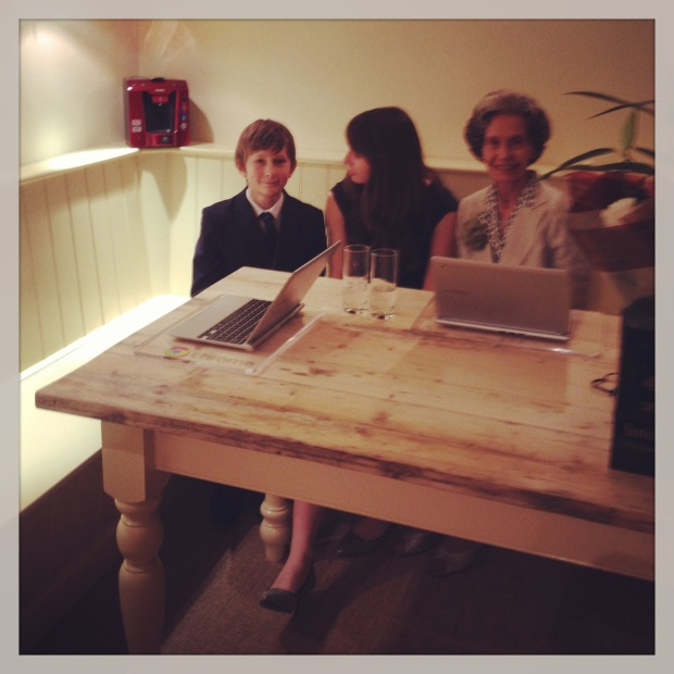 The Kitchen Table, the children and Freda