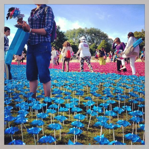 Blue Flowers in the Spinning Garden #BigIF
