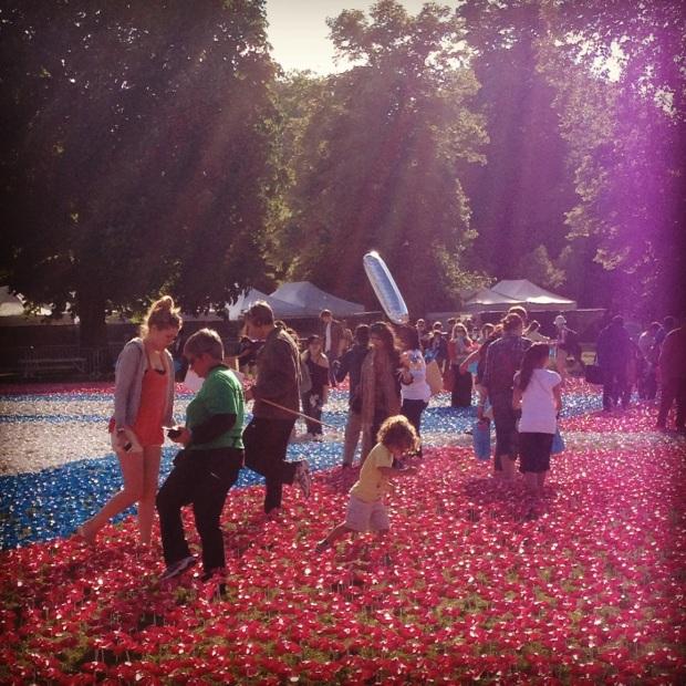 Children enjoying the Flower Garden at the #BigIF