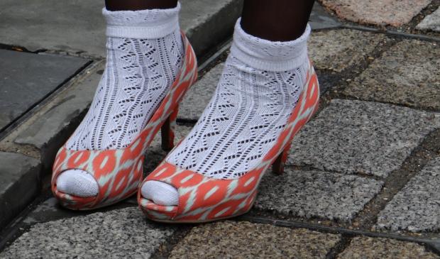 Orange Patterned Shoes