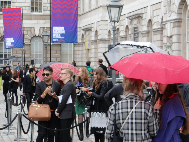 LFW SS14 in the rain