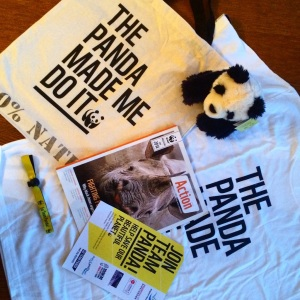 WWF goody bag for Grown-Ups